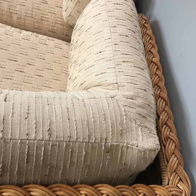 Vintage Rattan Sectional Sofa Set - Image 8 of 11
