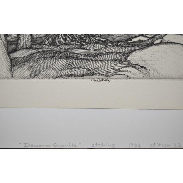 """""""Ice Worn Granite"""" Vintage Etching by Roi Partridge - Image 4 of 6"""