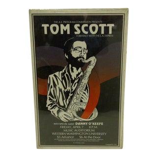 """Vintage 1978 """"Tom Scott"""" Concert Poster"""