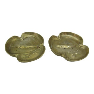 Solid Brass Nautical Dishes- A Pair