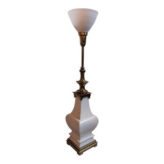 Stiffel Crackle Glaze Urn Lamp