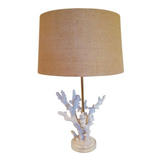 Faux Sea Coral Lamp On Lucite Base