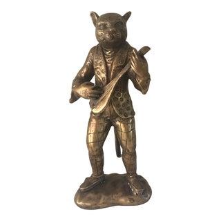 Vintage Bronze Sarreid Cat Figurine