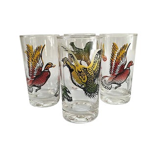 Vintage Game Bird Tumblers - Set of 4