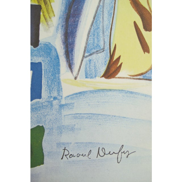1954 Original Vintage French Exhibition Poster, Minimalist Poster, Hommage à Raoul Dufy - Image 5 of 6