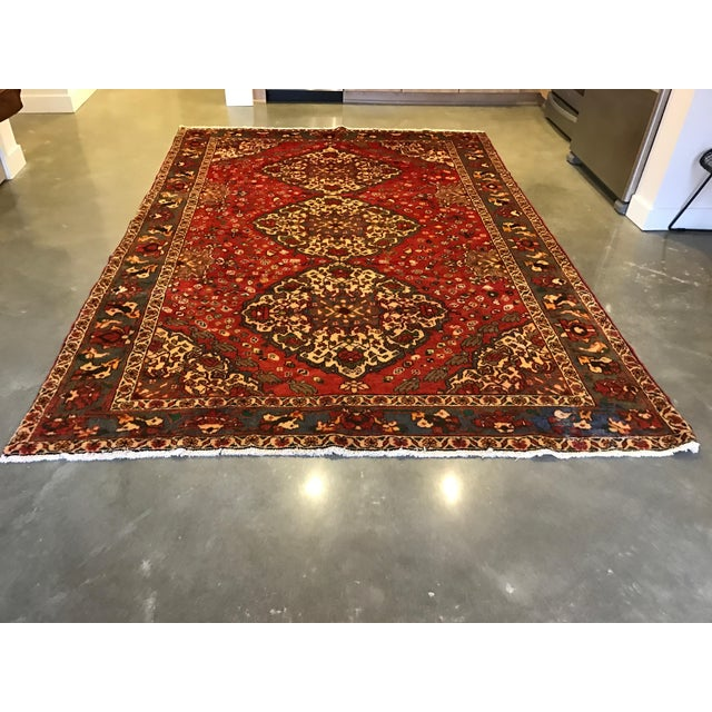 Large Hand Knotted Persian Rug - 6'11x10'0 - Image 2 of 11