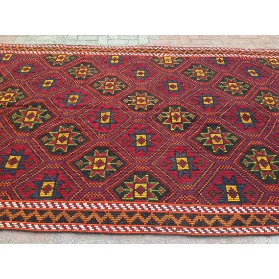 Vintage Handwoven Turkish Kilim Rug - Image 3 of 5