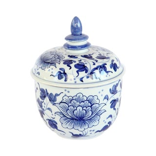 Blue and White Trinket Jar