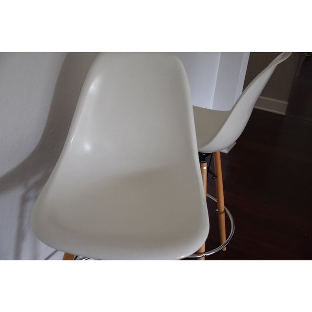 Image of Eames Modernica Swivel Base Barstools- A Pair