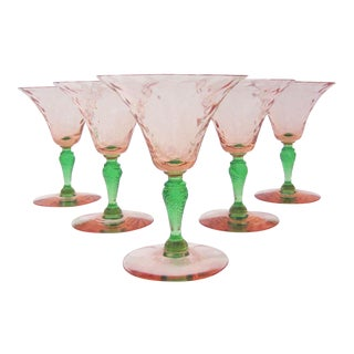 Pink & Green Fry Coupes - Set of 5