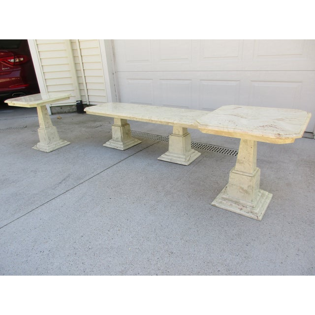 Marble End Tables and Coffee Table - Set of 3 - Image 3 of 11