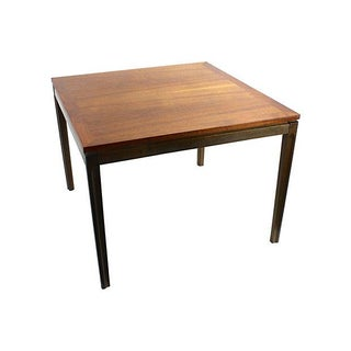 Mid-Century Danish Modern Two-Tone Teak End Table