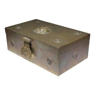 Mid-century Brass Buddha Box Lined with Sandlewood, c. 1960-1970s