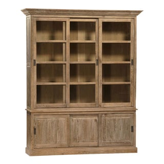Sliding Door Oak Cabinet