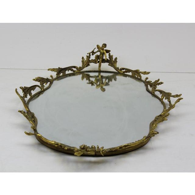 Gold Plated Cherubs Vanity Tray Chairish