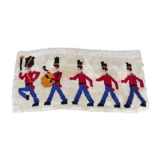 Mid Century Toy Soldier Hooked Rug - 2′1″ × 4′4″