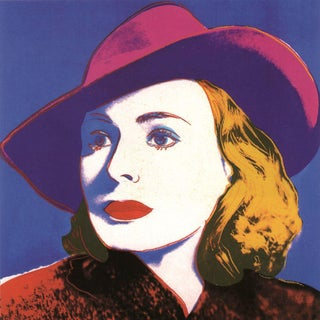 Andy Warhol-Ingrid with Hat (sm)-Poster