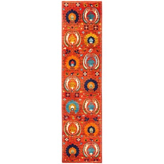 """Suzani, Hand Knotted Runner - 2'7"""" X 10'7"""""""