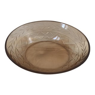 Amber Glass Trinket Dish