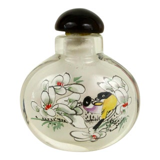 Asian Glass Art Bottle