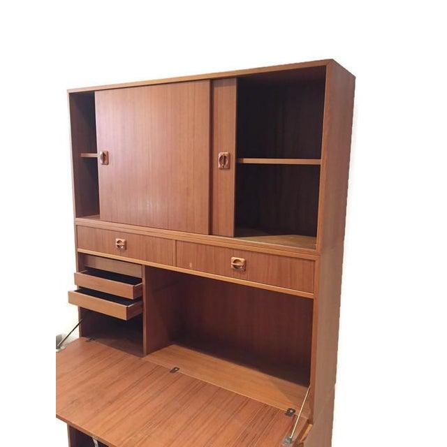 Mid Century Teak Modular Wall Unit Desk or Bar - Image 7 of 9