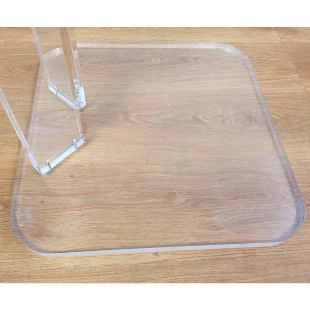 Image of Mid-Century Modern Lucite End Table