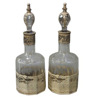 Continental Decanters - A Pair