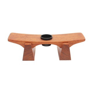 Danish Modern Teak Centerpiece Flower Holder