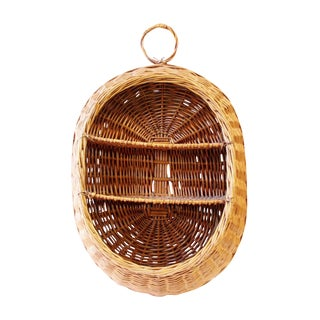 Vintage Boho Wicker Basket Shelf