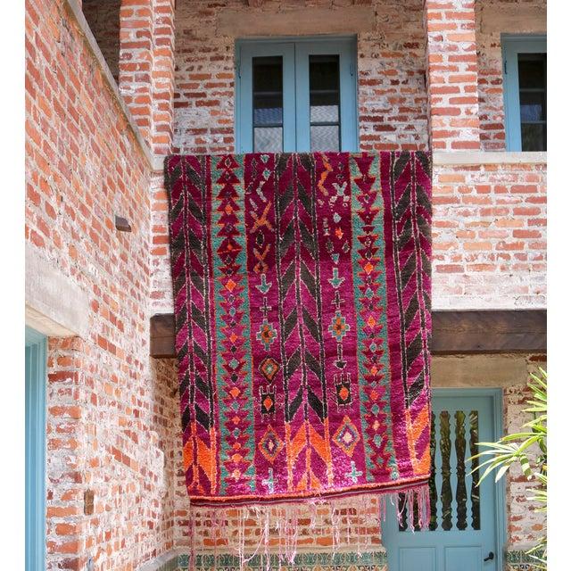 Vintage Moroccan Purple & Teal Talsint Rug - 5′12″ × 11′2″ - Image 7 of 7
