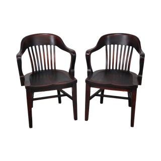 """The Sikes Company Antique """"Bank of England"""" Armchairs - A Pair"""