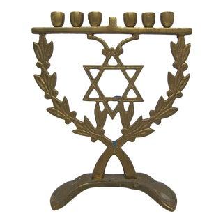 Brass Jewish Candle Holder