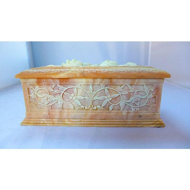 Image of Vintage Floral Cameo Pink Jewelry Box