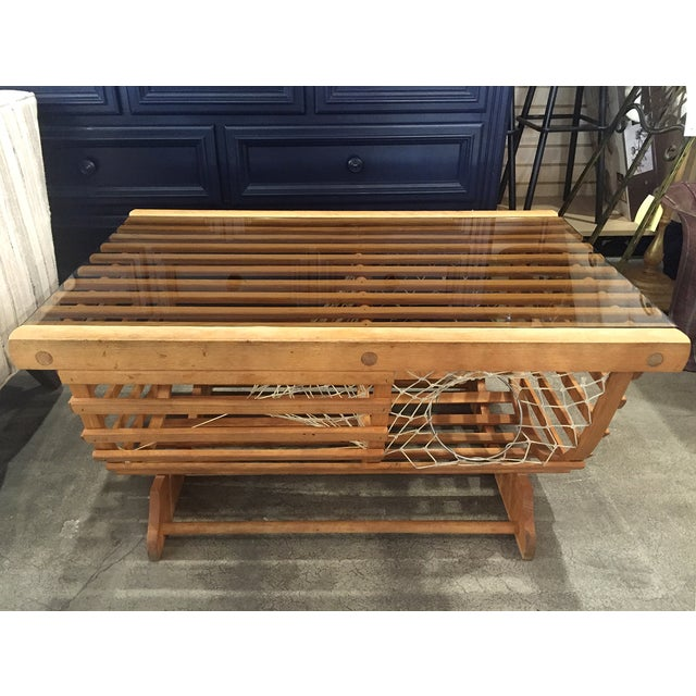 Modern Nautical Lobster Trap Coffee Table - Image 3 of 8