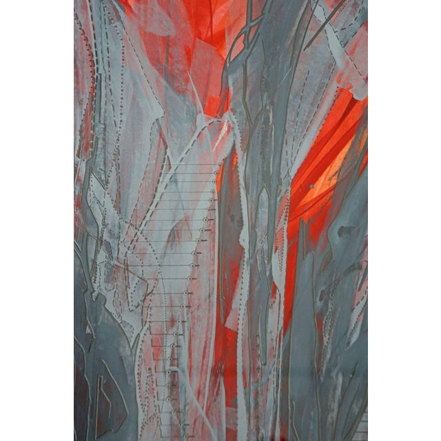 """IR-1534 Red Fire"" Painting - Image 5 of 7"
