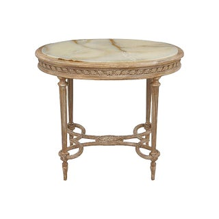 Louis XVI Onyx Accent Table