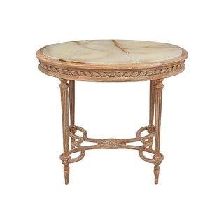 Louis XVI Onyx Accent Table
