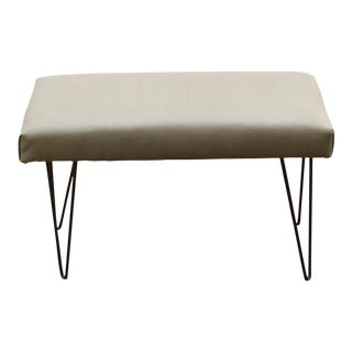 Upholstered Hairpin Leg Bench