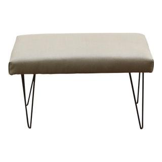 Upholstered Hairpin Leg Bench