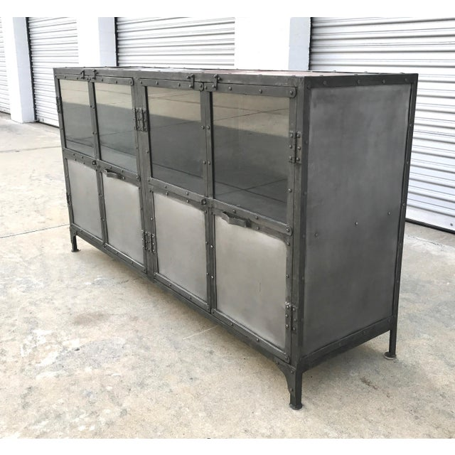 Industrial Antiqued Metal Cabinet - Image 2 of 10