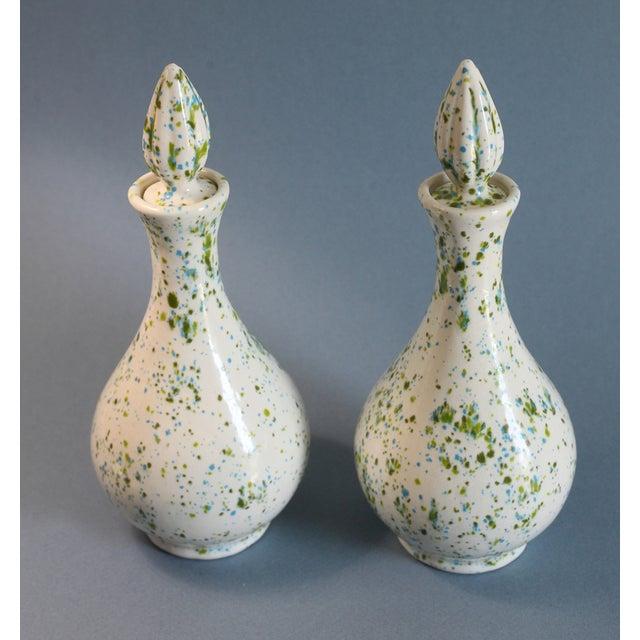 Speckled Ceramic Vases - A Pair - Image 3 of 5