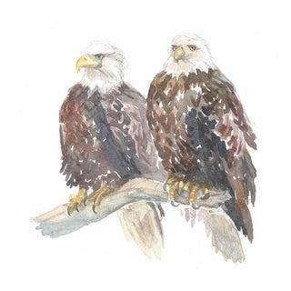 Pair of Eagles - Print of an Original Watercolor