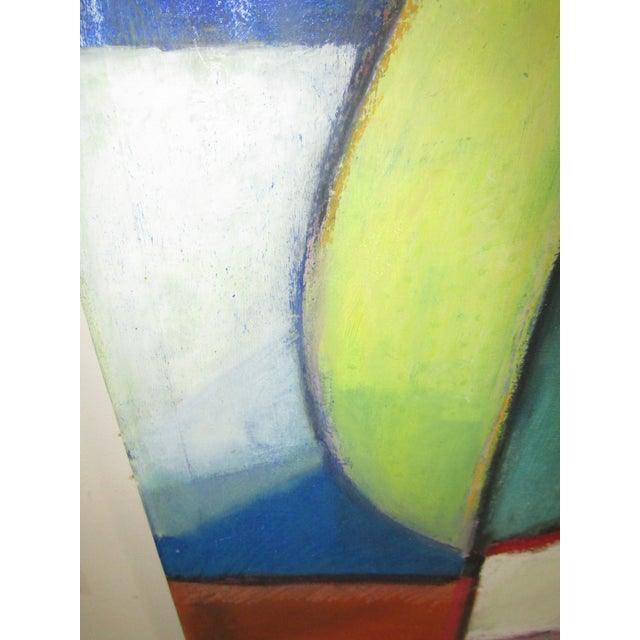 Original Signed Large Colorful Abstract Painting - Image 4 of 8