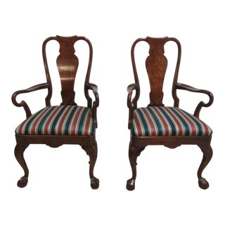 Chippendale Ball & Claw Dining Armchairs - A Pair