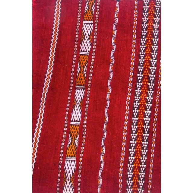 "Moroccan Red Berber Tribal Kilim Rug - 2' 10"" X 5'"