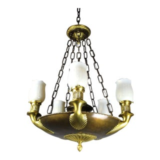 Empire Revival Torchiere Fixture by E. Miller & Co.
