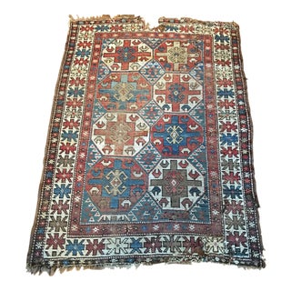 Antique Persian Sarouk Woven Rug 4.7 x 3.3
