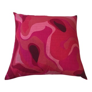 Retro Style Pink Cotton Pillow