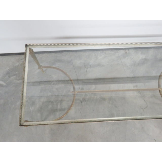 Jansen Directoire Style Glasstop Coffee Table - Image 3 of 6