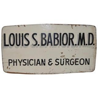 Vintage Medical Advertising Sign C.1950